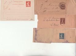 Lot De 7 Entiers Postaux-CP (1er Jour Flamme);EL Et BJ(1 Algerie). - Enteros Postales