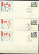 Canada 1976 Olympic Games Montreal, Archery, Shooting, Athletics 3 Commemorative Covers - Zomer 1976: Montreal