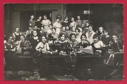 Carte Photo Bruyères En Vosges - La Chemiserie En 1936 - Bruyeres