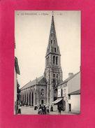 44 LOIRE ATLANTIQUE, LE POULIGUEN, L'Eglise, Animée, Commerce, (L. L.) - Le Pouliguen
