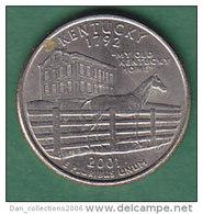 ETATS UNIS  KENTUCKY   QUATER DOLLAR    ANNEE 2001   (lettre P)    LOT100332 - Federal Issues
