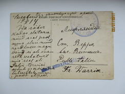 IMP. RUSSIA FINLAND SVEABORG  1914 WW I FIELDPOST 351 LIVLAND INFANTRY REGIMENT , HELSINKI MONUMENT ,  0 - 1857-1916 Empire