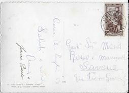 STORIA POSTALE REPUBBLICA - CARTOLINA DA CERES (TO) 12.07.1951 LIRE 6 LAVORO ISOLATO - 1946-60: Marcofilia