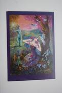 FOREST SPIRITS - FAIRY TALES -  Champignon - Modern Postcard - MUSHROOM - Frog - Champignons