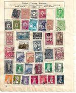 0640f: Lot Türkei Lt. Scan (aus Schaubeck- Falzalbum, Falze Können Einfach Entfernt Werden) - Türkei