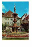 Cpm Suisse - La Chaux De Fonds - - Fontaines Avec Tortues Statue - Turtle Tortue - Banque - Schildpadden