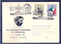 Langue - Esperantio - Carte De Pologne De 1959 Vers Finlande (à Voir Recto-verso) - Esperanto