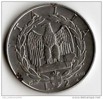 ITALIE   VICTOR  EMMANUEL III   2  LIRE   ANNEE 1940 R  XVIII   MAGNETIQUE    LOT ITA108 - 1861-1946 : Royaume