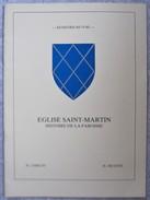 B7 /  Elouges-Au-Val  Eglise Sain Martin / Histoire De La Paroisse - Dour Mons - Cultural