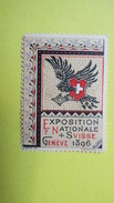 Vignette Italie  Exposition Internationale  Suisse Genève  1896 - Cinderellas