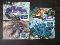 WWF Marshall Islands Coral Sea Life Wirbellose Des Pazifiks 1986 44 CM MC MK  Maximum Maxi Carte Card  Maximumkarte - Maximumkarten