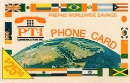 USATA-USA- PT 1- 25 $- - Schede Telefoniche