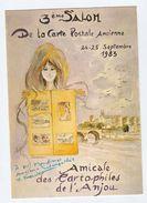 1983 Salon De La Carte Postale Ancienne  Old Postcard Exhibition Event Card France - Exhibitions