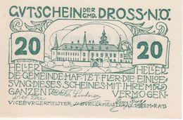 230-Banconote-Carta Moneta Di Emergenza-NOTGELD-Austria-Osterraich-Emergency Money-20 Heller 1920. - Oostenrijk