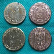 RUSSIA KALININGRAD KONIGSBERG LOT 4 COINS MEDALS TOKENS KANT DOM KING GATE KONIG II OTTOCAR PRUSSIA - Germany