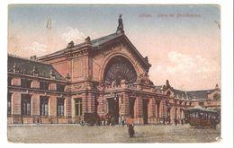 Liège / Luik - Gare De Guillemins - Colorisée - 1920 - Cachet Olympiade Anvers - Animée - Tramway - Liege
