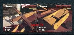 BOSNIEN UND HERZEGOWINA Mi.NR. 664-665 D/E  Europa - Historisches Spielzeug -2015 - MNH - 2015