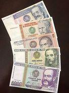 C) PERU BANK NOTE 5PC SET 10+50+100+1000+5000 UNC (1987-1988) - Peru