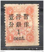 China Chine : (1271) 1897 Empire SG79* - Nuovi