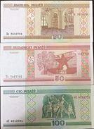 C) BELARUS BANK NOTE 20+50+100 RUBLEI ND 2000 UNCIRCULATED - Belarus