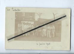 """Carte Photo à Identifier : Qui était Avec Des Cartes D'Amiens """"Les Patates""""14 Février 1905(militaires , Soldats , Armée) - Amiens"""