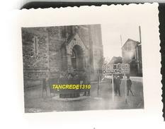 WW2 PHOTO ORIGINALE Soldats Allemands à LA SELLE CRAONNAISE Près Craon Chateau Gontier Laval MAYENNE 53 N°1 - 1939-45