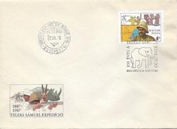 HUNGARY-1987. FDC - Samuel Teleki, Explorer / Teleki's African Expedition,Centenary  Mi:3905. - FDC