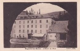 L'HOTEL DU MIDI/BAGNOLS LES BAINS (dil237) - Hotels & Restaurants