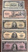C) CUBA-CARIBBEAN BANK NOTES 5PC 5+10+20+50+100 (1950,1959,1960) - Cuba