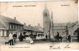 1 PC Rijkevorsel Ryckevorsel  Dorpplaats  Place Du Village Veemarkt   Uitg. Hoelen N°1145  Anno 1905 - Rijkevorsel