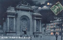 CPA Lille La Porte De Paris, La Nuit (pk37380) - Lille