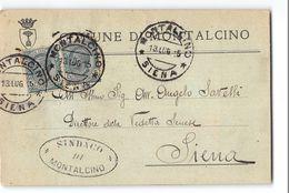 825 02 COMUNE DI MONTALCINO X SIENA - 1900-44 Victor Emmanuel III