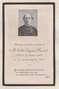 7AJ265  IMAGE PIEUSE RELIGIEUSE Mortuaire  ABBE EUGENE FERRAND  1923 2 SCANS - Andachtsbilder