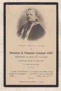 7AJ266  IMAGE PIEUSE RELIGIEUSE Mortuaire  CHANOINE LIOT ARCHPRETRE ST OURS DE LOCHES 1917 2 SCANS - Devotieprenten