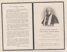 7AJ267  IMAGE PIEUSE RELIGIEUSE Mortuaire  PRETRE AUGUSTE MOLIN CURE ST POTHIN  1932 2 SCANS - Devotion Images