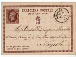 0860 01 ANCONA X NAPOLI 1874 - 1861-78 Victor Emmanuel II.