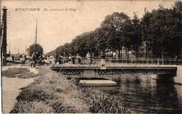 1PC Wijnegem  De Vaart Met De Brug   Anno 1910 - Wijnegem