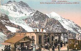Switzerland Jungfraubahn Train Station Eigergletscher Mit Jungfrau Suisse 1912 - Cartes Postales