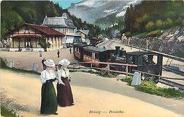 Switzerland Suisse Brunig Passhohe Train Station 1912 - Cartes Postales
