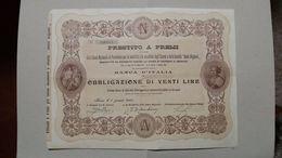 Obbligazioni Da 20 Lire Banca D'Italia 1905 - Banque & Assurance
