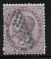 Italy, Scott # 32 Used Victor Emmanuel Ll, 1863, Deep Color, One Short Perf - Used