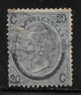 Italy, Scott # 34 Used Victor Emmanuel Ll, Type 1 Surcharged, 1865, Defect At Right Edge - Used