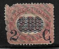 Italy, Scott # 42 Used Official Stamp Surcharged, 1878, Space Filler - Used
