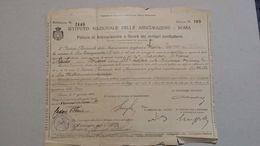 Polizza Assicurazione Militari Combattenti 1918 - Banca & Assicurazione