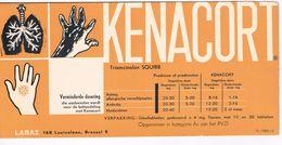 """Buvard Produits Pharmaceutiques """" Kenacort"""" - Pharmacie- Médecine  Labo LABAZ Bruxelles Vloeipapier Blotter - Produits Pharmaceutiques"""