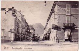 DOMODOSSOLA-VERBANO CUSIO OSSOLA-VIA SEMPIONE--CARTOLINA VIAGGIATA NEL 1906 - Verbania