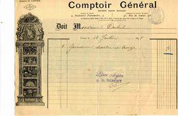 """""""Comptoir Général"""", Maison RIONDET,  Orfèvrerie, Bijouterie, 9 Bld Poissionnière Et Rue Du Sentier, PARIS, 1898 - Joyas & Relojería"""