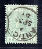 Victoria  ½d. Dull Green SG 21 Used - Antigua & Barbuda (...-1981)