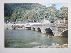 Postcard Machynlleth Bridge Over River Dovey My Ref B21612 - Montgomeryshire