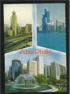 United Arab Emirates UAE Abu Dhabi Picture Postcard View Of  Abu Dhabi  The Capital Building - Dubai
